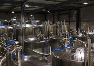 Cuverie de stockage et de vinification de 7500 Hectolitres